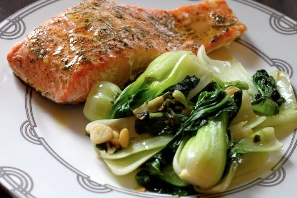 salmon pechay