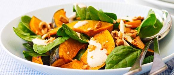 pumpkin spinach