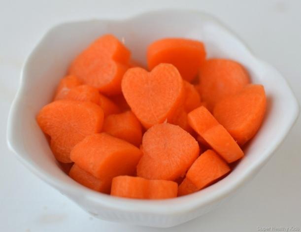 Heart carrots